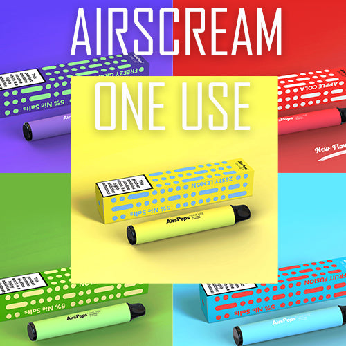 Airscream - AirsPops One-Use(Disposable) - 800 Puffs 5% Nic