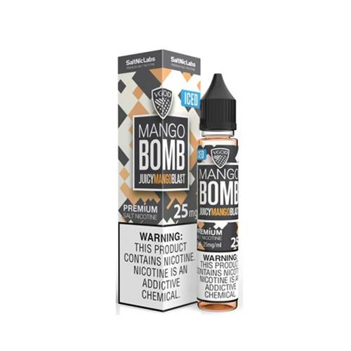 E-Juices - Vgod - 30ml Nic Salt E-juice Iced Mango Bomb Flavour