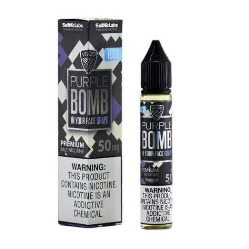 Vgod - 30ml Nic Salt E-juice Iced Purple Bomb Flavour