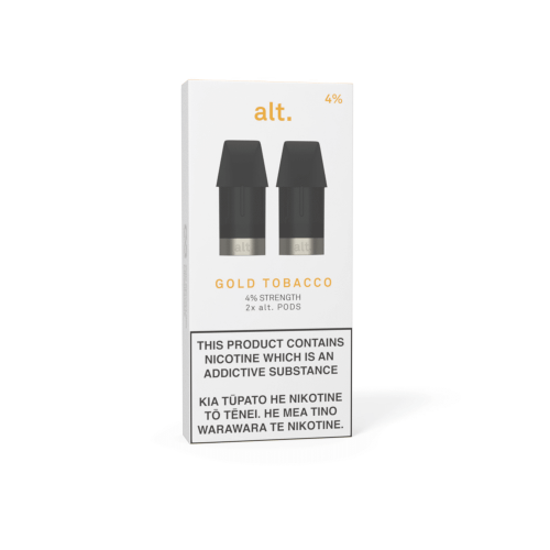 Pods - ALT - REPLACEMENT POD 2-PACK - Gold Tobacco 0%/2%/4%
