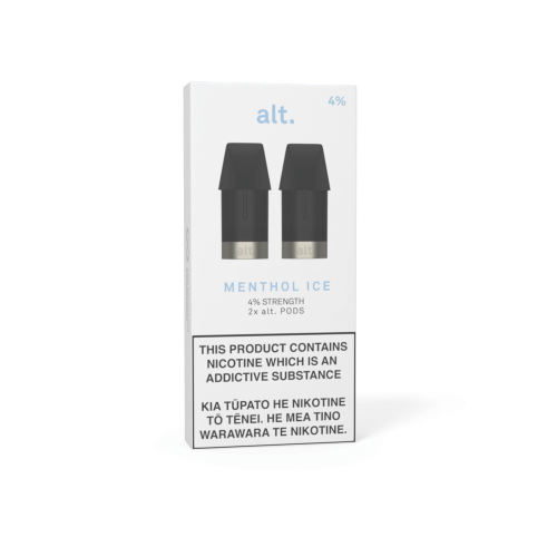 Pods - ALT - REPLACEMENT POD 2-PACK - Menthol Ice 0%/2%/4%