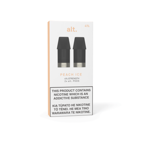 Pods - ALT - REPLACEMENT POD 2-PACK - Peach Ice 4%