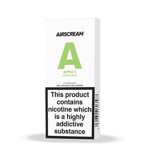 Replacement Pods - Airscream - Replacement Cartridge - New 1.6ml Apple S 2 Pods/Pack
