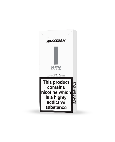 Replacement Pods - Airscream - Replacement Cartridge - New 1.6ml  Ice Toba 2 Pods/Pack
