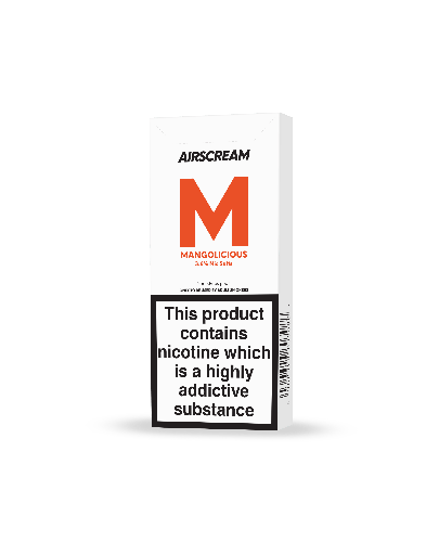 Replacement Pods - Airscream - Replacement Cartridge - New 1.6ml Mangolicious 2 Pods/Pack