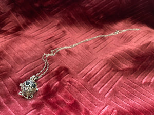 Owl Aromatherapy Necklace with Lava Bead