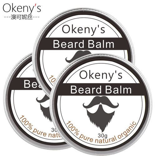 3pcs Dexe 100% Natural Beard Wax Balm Moustache Beard Oil