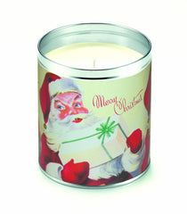 Merry White Santas Candle