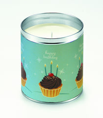 Blue Birthday Cupcakes Candle