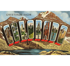 Greetings From Colorado Candle