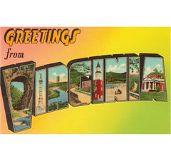 Greetings From Virginia Candle