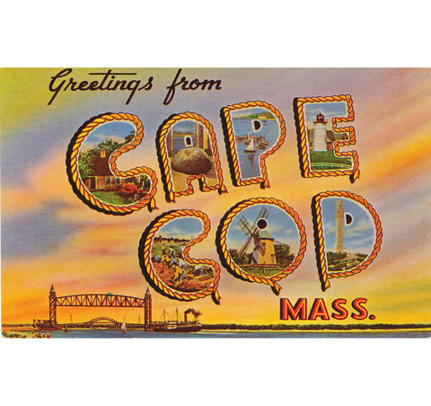 Greetings From Cape Cod Rope Candle