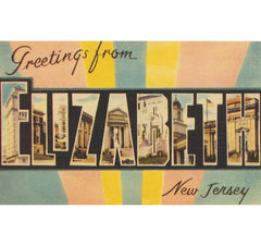 Greetings From Elizabeth, NJ Candle