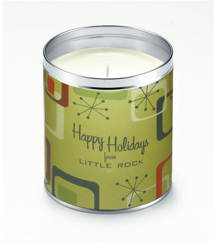 Mod Happy Holidays Personalized Candle