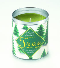 Snowy Tree Candle