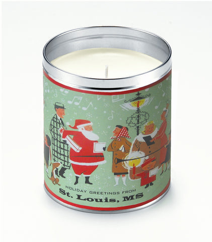 Personalized Santa Shoppers Candle