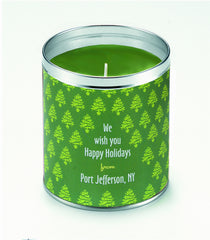 Personalized Tree Farm Candle