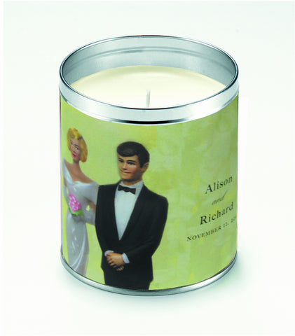 Personalized Bride & Groom Candle