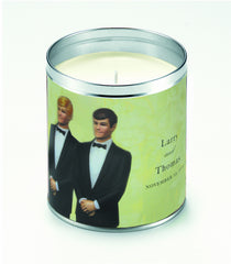 Personalized Groom & Groom Candle
