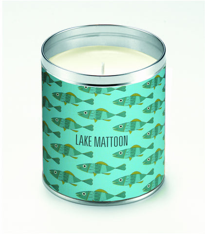 Personalized Mid-Century Fish Candle