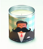 Mustaches=Happiness w/Paper Stache Candle