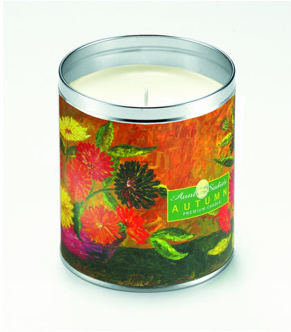 Autumn Floral Still Life Candle