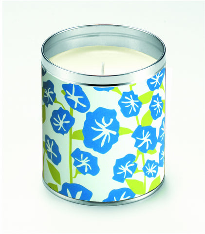 Kate's Blue Flowers Candle