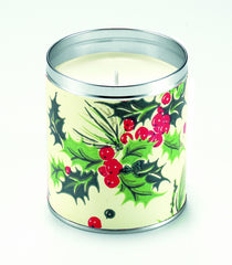 Holly Giftwrap Candle