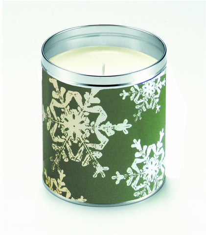 Kate's Nordic Flakes Green Candle