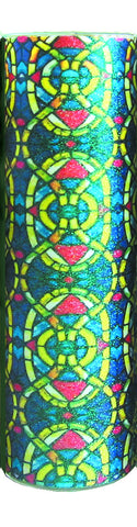 Frosty Glass Stained Glass Window Candle