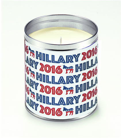 Vote Hillary Text Candle