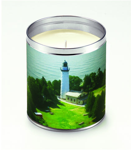 America The Beautiful Scenic Lighthouse Candle