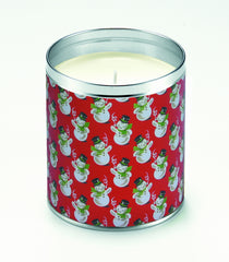 Giftwrap Snowman Candle