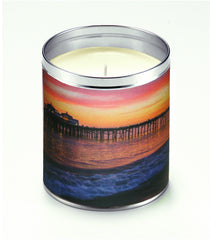 America The Beautiful Pier at Nightfall Candle