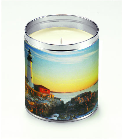 America The Beautiful Rocky Shore Candle