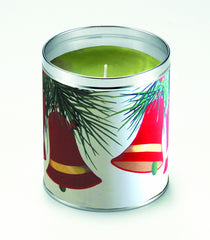 Flocked Bells Candle