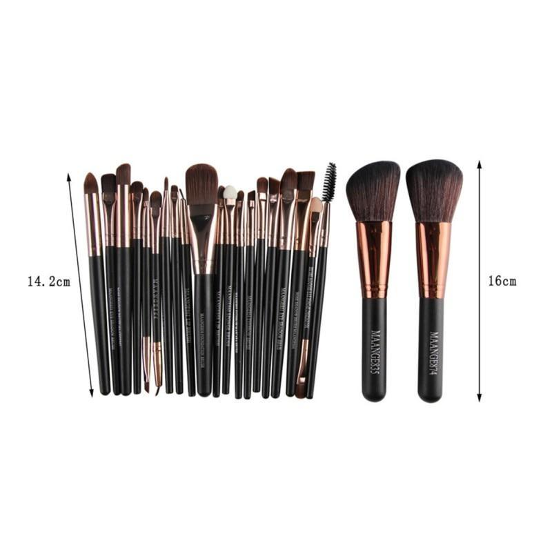 22 Piece Cosmetic Makeup Brush Set - LuckyForest