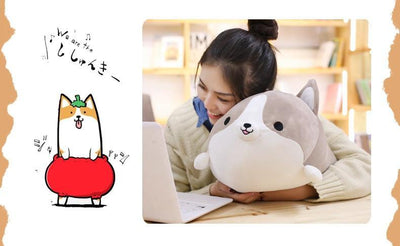 Squishy Corgi Plush Pillow - LuckyForest