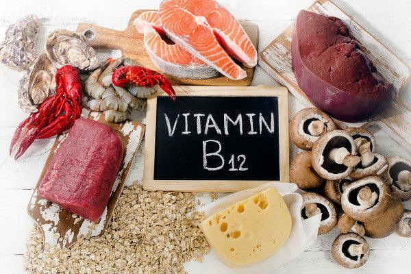 3 essential vitamins for nerve pain relief foods with vitamin b12 on counter liver mushrooms fish oats cheese