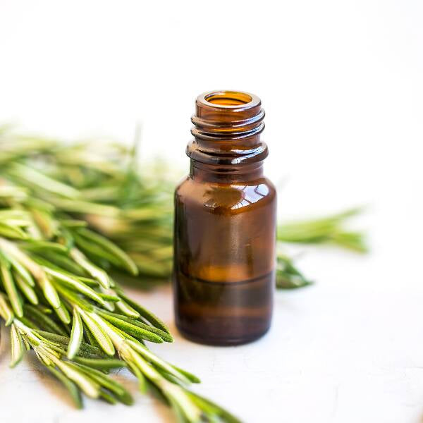 Amber glass bottle of essential oils for Boosting Immune System