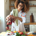 Woman Cooking Immune Boosting Foods