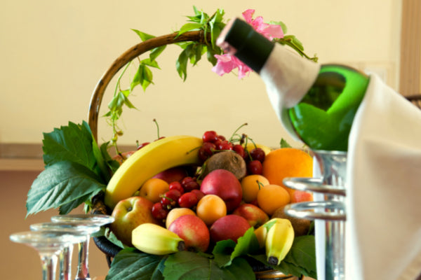 the best different types of magnesium fruit and wine with magnesium malate close up on table in a basket
