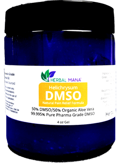 CLEARANCE!! Helichrysum DMSO gel - 50/50 Aloe Vera (4 oz jar) 4 oz gel Herbal Mana LLC