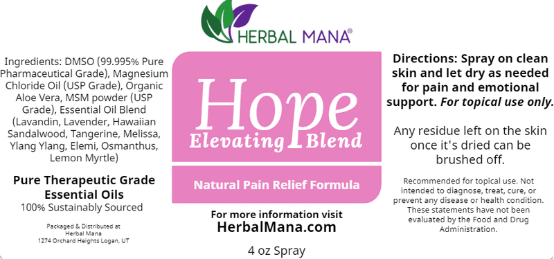 CLEARANCE!! Hope (Elevating Blend) Herbal Mana LLC