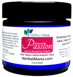CLEARANCE!! Passion Cream (Libido Boosting Blend) 1 pack (2 oz cream) Herbal Mana LLC