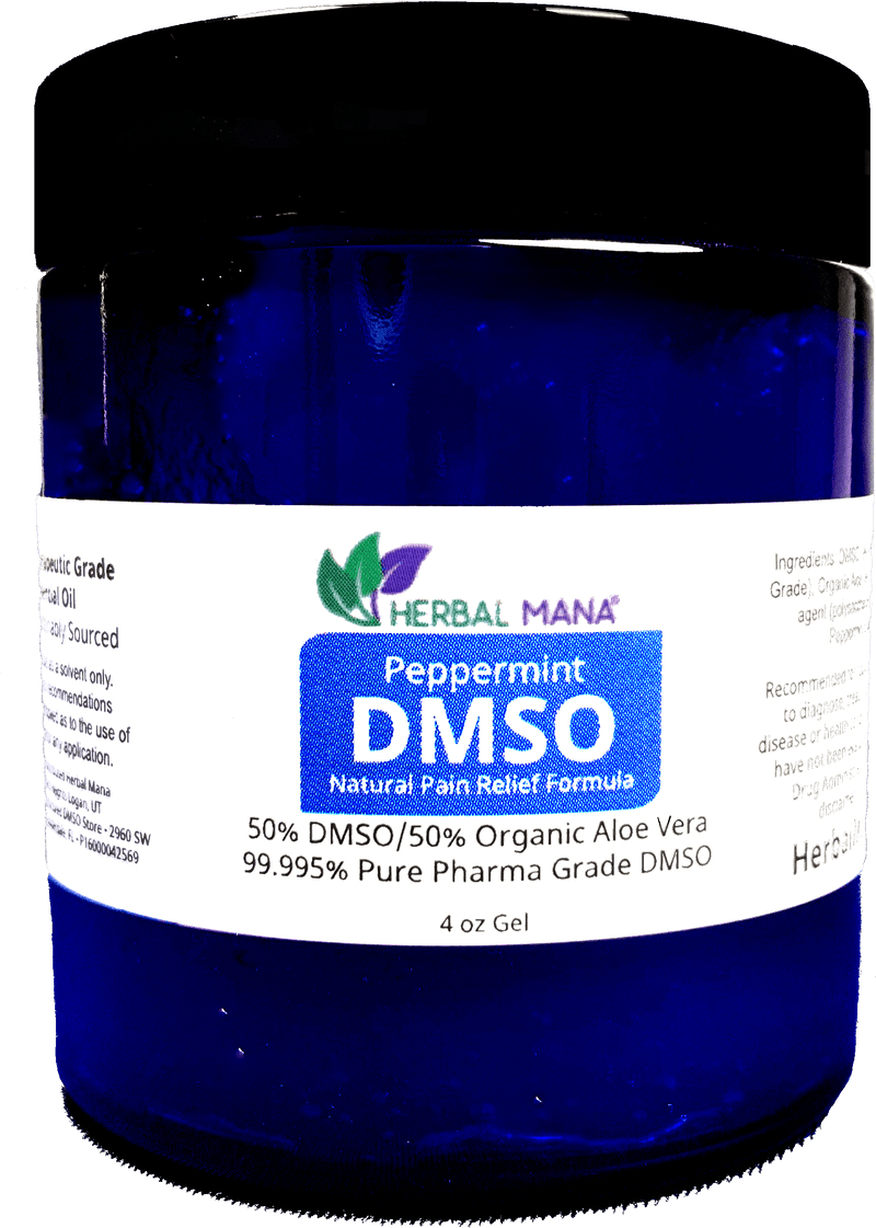 CLEARANCE!! Peppermint DMSO gel - 50/50 Aloe Vera (4 oz jar) 4 oz gel Herbal Mana LLC