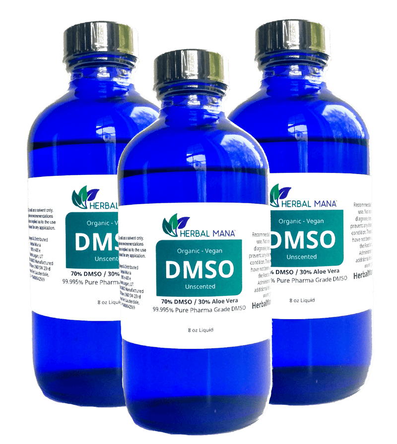 DMSO 8 oz liquid 70/30 Aloe Vera 3 pack (8 oz) Herbal Mana LLC