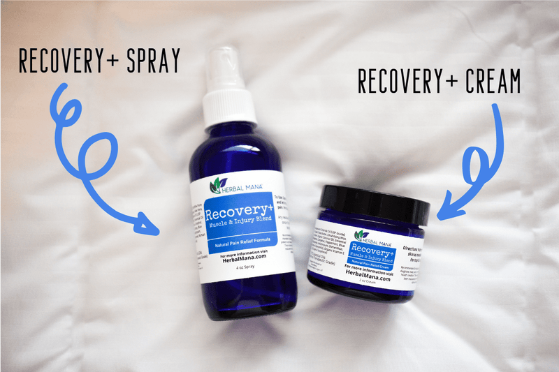Recovery+ Set Recovery+ Set (4oz spray, 10mL roller, 2oz cream) Herbal Mana LLC