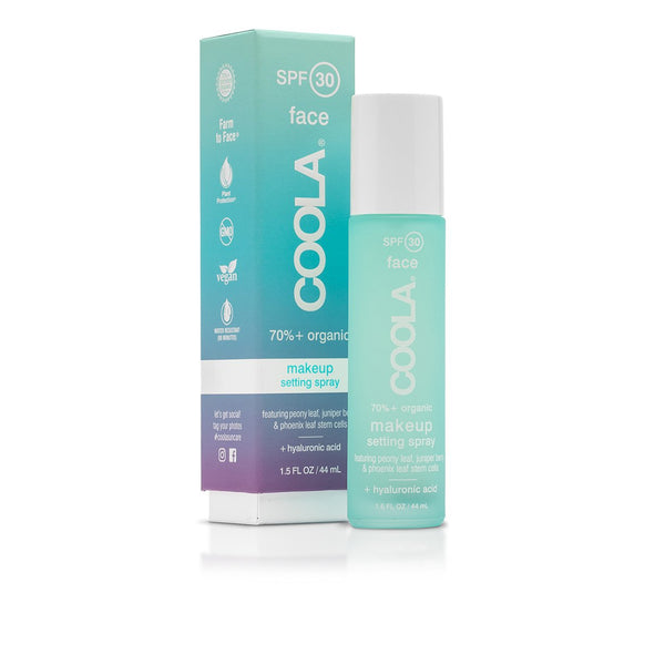 Coola Organic SPF 30 Makeup Setting Sunscreen Spray - Room— 9