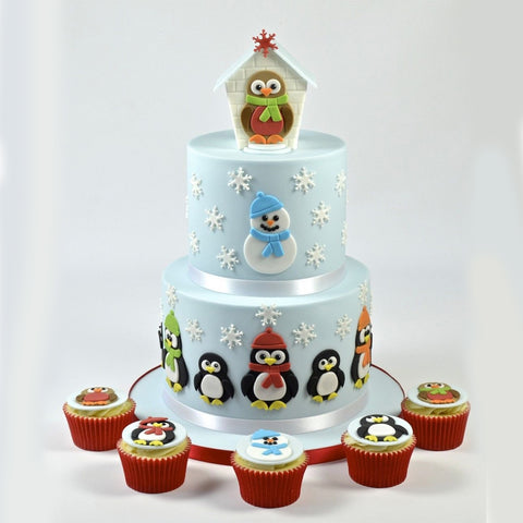 4pcs penguin Cake/Cookie Tools